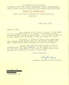 stonehouse archive letter