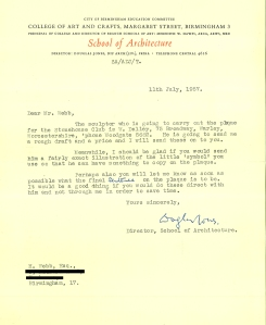 stonehouse archive letter