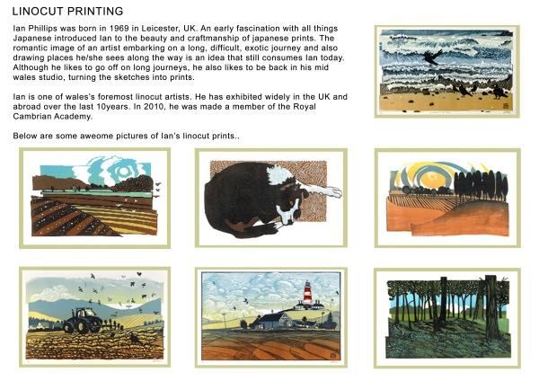 Study of a Linocut print artist.