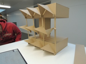 cardboard prototype of our final design