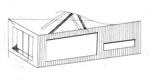 exterior materiality sketch scheme