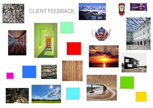 Client feedback moodboard