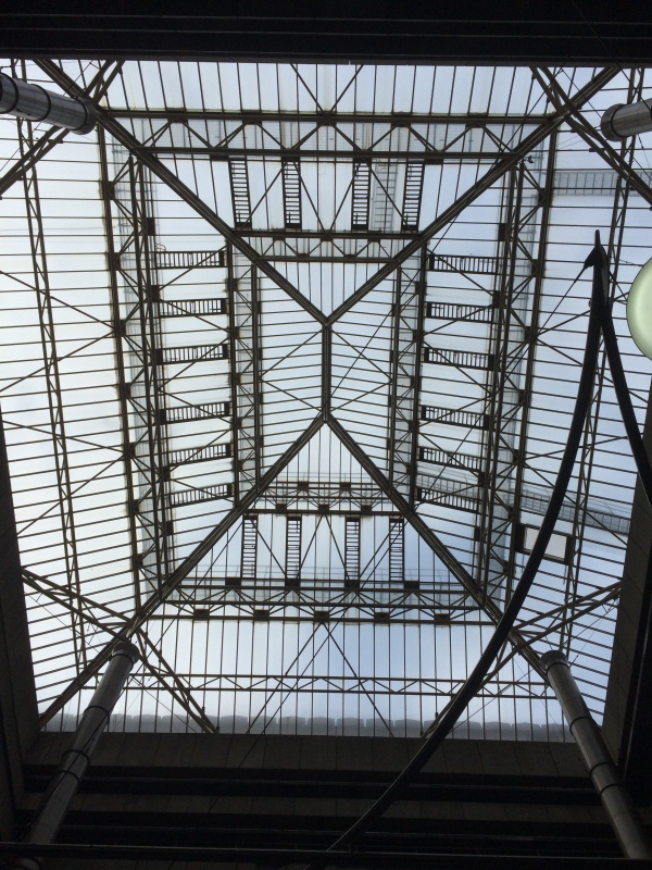 Roof structure of the atrium in Paradise Circus.