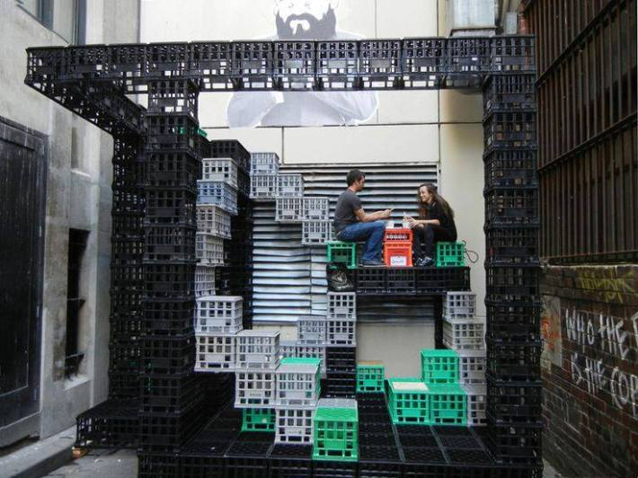 A Playground for Urban Dwellers: Reuse of Milk Crates contemporary exterior.jpg