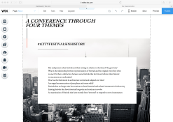 ABOUT PAGE - displaying themes of the conference