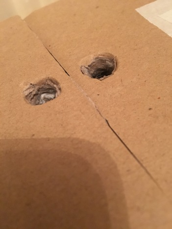7. Holes for fingers for ease of use