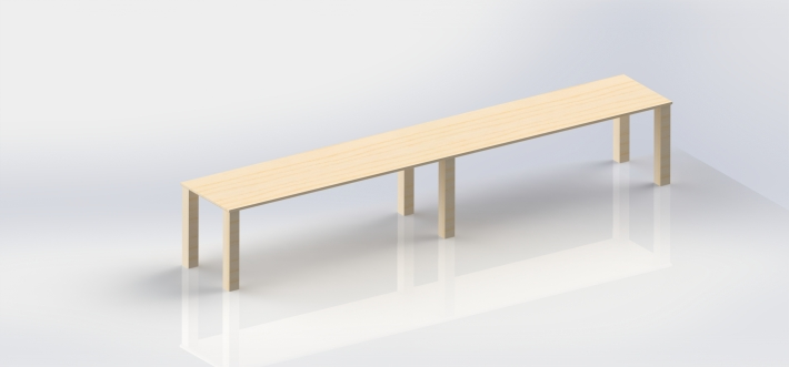 render of long table , full ash