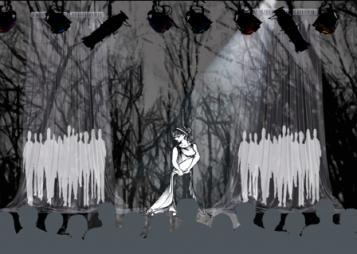 Visual - tree backdrop